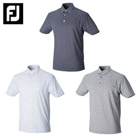 フットジョイ FootJoy ゴルフウェア 半袖 メンズ フラワープリント カノコ ボタンダウンシャツ FJ-S18-S22