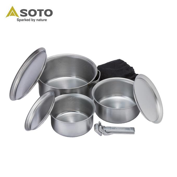 ソト SOTO 調理器具 鍋 ステンレスヘビーポット GORA ST-950