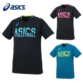 アシックス バレーボール 半袖Tシャツ メンズ レディース プラクティスショートスリーブトップ XW6741 asics