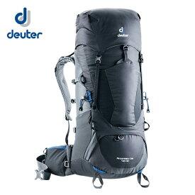 ドイター 登山バッグ 40L+10 メンズ レディース エアコンタクトライト AIRCONTACT LITE 40+10 D3340118-7403 ブラック deuter 宿泊登山