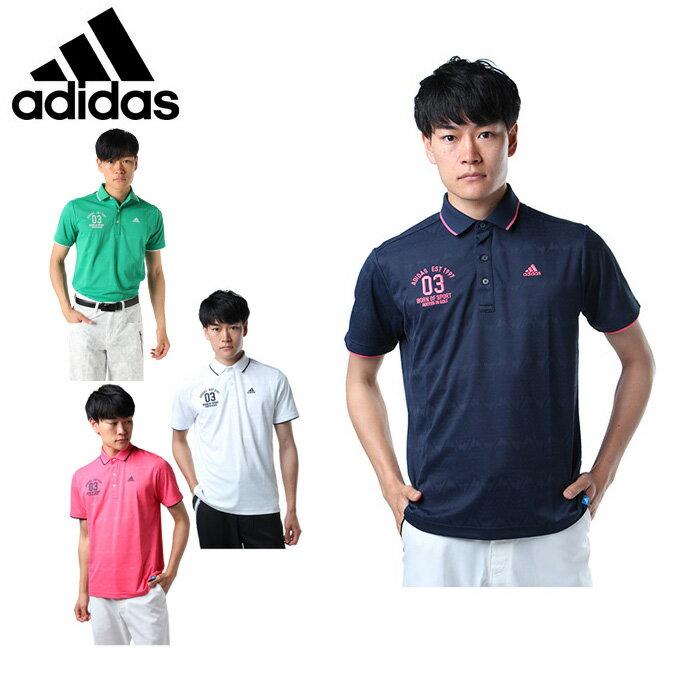 アディダス ゴルフウェア ポロシャツ 半袖 メンズ JP adicross マウンテンジャカード S/S ポロ アディクロス CCO51 adidas
