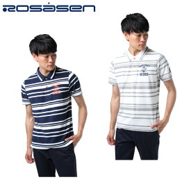 ロサーセン ROSASEN ゴルフウェア ポロシャツ 半袖 メンズ ボーダーパイルポロ 044-27340