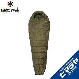 スノーピーク snow peak マミー型シュラフ ミリタリースリーピングバッグ オリーブドラブ BDD-050OD