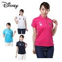 ディズニー Disney ゴルフウェア ポロシャツ 半袖 レディース NYミッキー 8286-9660