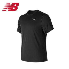 ニューバランス スポーツウェア 半袖Tシャツ メンズ アクセレレイトショートスリーブTシャツ AMT73061-BK new balance