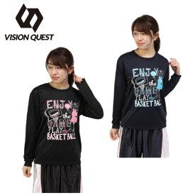 ビジョンクエスト VISION QUEST バスケットボール 長袖シャツ レディース プリントT VQ570414H02