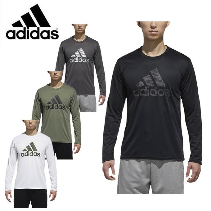 アディダス スポーツウェア 長袖 メンズ ESSENTIALS BADGE OF SPORTS 長袖Tシャツ FAO88 adidas