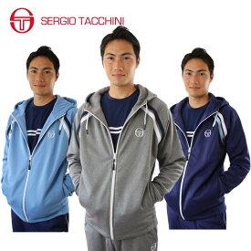 セルジオタッキーニ テニスウェア メンズ スウェットパーカー フルジップフリーススウェットパーカー ST530315H01 SERGIO TACCHINI セルジオ タッキーニ