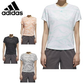 アディダス Tシャツ 半袖 レディース WO AOP SS 総柄Tシャツ FAO67 adidas