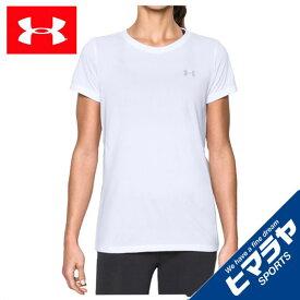 アンダーアーマー Tシャツ 半袖 レディース テックTシャツ トレーニング Tシャツ WOMEN 1277207-100 UNDER ARMOUR