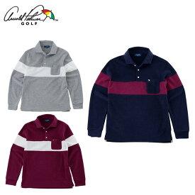 アーノルドパーマー arnold palmer ゴルフウェア ポロシャツ 長袖 メンズ カットパイル長袖シャツ AP220202H01