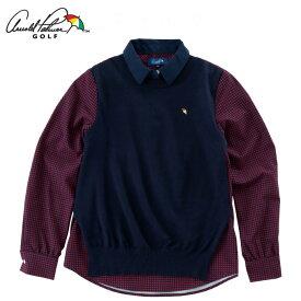 アーノルドパーマー arnold palmer ゴルフウェア 長袖シャツ レディース 重ね着風長袖シャツ AP220402H03