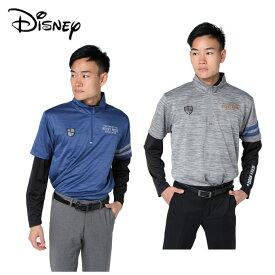 ディズニー Disney ゴルフウェア シャツセット メンズ 杢鹿の子アンダー 8432-1833