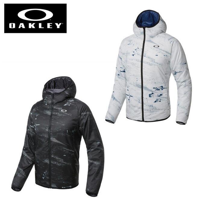 オークリー ウインドブレーカー ジャケット メンズ グラフィックフード中綿JKT Enhance Graphic Insulation Jacket 8.7 412593 OAKLEY