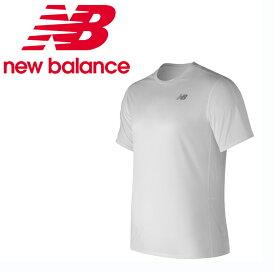 ニューバランス スポーツウェア 半袖Tシャツ メンズ アクセレレイト ショートスリーブTシャツ AMT73061 WT new balance