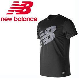 ニューバランス スポーツウェア 半袖Tシャツ メンズ アクセレレイトグラフィック ショートスリーブTシャツ AMT83174 BK new balance