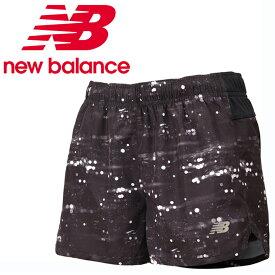 ニューバランス ショートパンツ レディース W R360 5インチグラフィック ランニングショーツ インナーなし JWSR8629 BK new balance