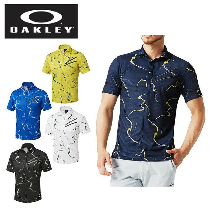 オークリー ゴルフウェア ポロシャツ 半袖 メンズ SKULL WHIRLWIND CLAW ZIP SHIRTS 434300JP OAKLEY
