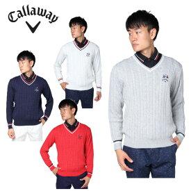 キャロウェイ ゴルフウェア セーター メンズ ケーブルニット 241-8260508 Callaway