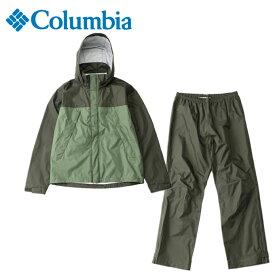 コロンビア レインウェア上下セット メンズ シンプソンサンクチュアリレインスーツ PM0124 347 Columbia