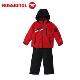 ロシニョール ROSSIGNOL スキーウェア 上下セット ジュニア ROSSI JR SUITS BOY RedBlack ボーイ レッドブラック RLFJJST01 サイズ調整機能 スノーウェア