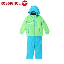 ロシニョール ROSSIGNOL スキーウェア 上下セット ジュニア ROSSI JR SUITS BOY LimeBlue スーツ ボーイ ライムブルー RLFJJST02 サイズ調整機能 スノーウェア