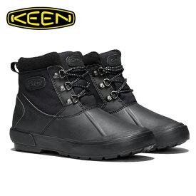 キーン KEEN スノーブーツ 冬靴 レディース ベレテア アンクルナイロン 防水ウィンターブーツ 1019623 BK/BK