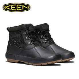 キーン KEEN スノーブーツ 冬靴 レディース ベレテア アンクルウール ウォータープルーフ ウィンターブーツ 1019605 BK/RA