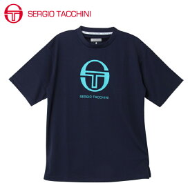 セルジオ タッキーニ SERGIO TACCHINI テニスウェア Tシャツ 半袖 メンズ マークロゴ ST530317I03-NV