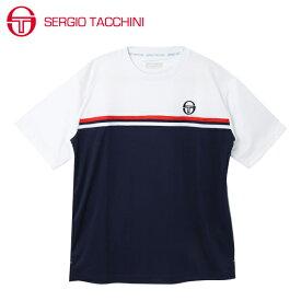 セルジオ タッキーニ テニスウェア スポーツウェア 半袖シャツ メンズ グラフィックTシャツ ベーシック ST530317I06-NV SERGIO TACCHINI