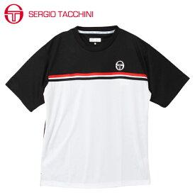 セルジオ タッキーニ テニスウェア スポーツウェア 半袖シャツ メンズ グラフィックTシャツ ベーシック ST530317I06-BK SERGIO TACCHINI