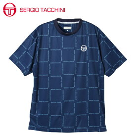 セルジオ タッキーニ テニスウェア スポーツウェア 半袖シャツ メンズ グラフィックTシャツ BOXロゴ ST530317I07-NV SERGIO TACCHINI