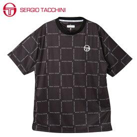 セルジオ タッキーニ テニスウェア スポーツウェア 半袖シャツ メンズ グラフィックTシャツ BOXロゴ ST530317I07-BK SERGIO TACCHINI
