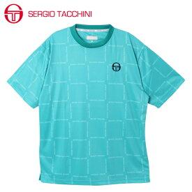 セルジオ タッキーニ テニスウェア スポーツウェア 半袖シャツ メンズ グラフィックTシャツ BOXロゴ ST530317I07-BL SERGIO TACCHINI