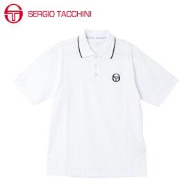 セルジオ タッキーニ テニスウェア スポーツウェア 半袖シャツ メンズ ワンポイントポロシャツ ST530317I08-WH SERGIO TACCHINI