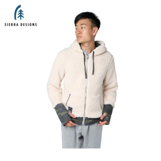 シェラデザインズ SIERRA DESIGNS スウェットジャケット メンズ ボアフリース 10994355 OFFWH