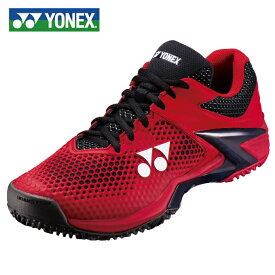 ヨネックス テニスシューズ オムニ クレー メンズ パワークッションエクリプション2 MGC SHTE2MGC-053 3E YONEX オムニクレー レッド/ブラック