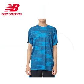ニューバランス スポーツウェア 半袖Tシャツ メンズ NB HANZO ハンゾー プリントショートスリーブTシャツ AMT83061 LCT new balance