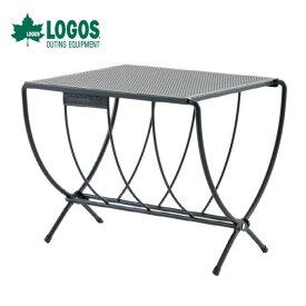 ロゴス LOGOS アイアングリルテーブル 薪ラックテーブル 81064154