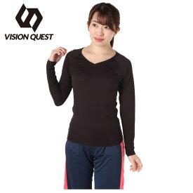 ビジョンクエスト VISION QUEST アンダーウェア 長袖 レディース UPF50+Vネック LSインナー VQ530301I02