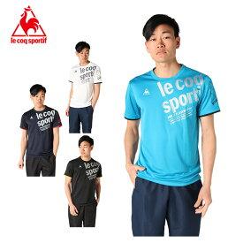 ルコック le coq sportif スポーツウェア 半袖 メンズ プリント機能Tシャツ QMMNJA03HM