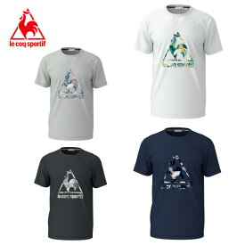 ルコック le coq sportif スポーツウェア 半袖 メンズ 総柄プリントロゴ機能Tシャツ QMMNJA00