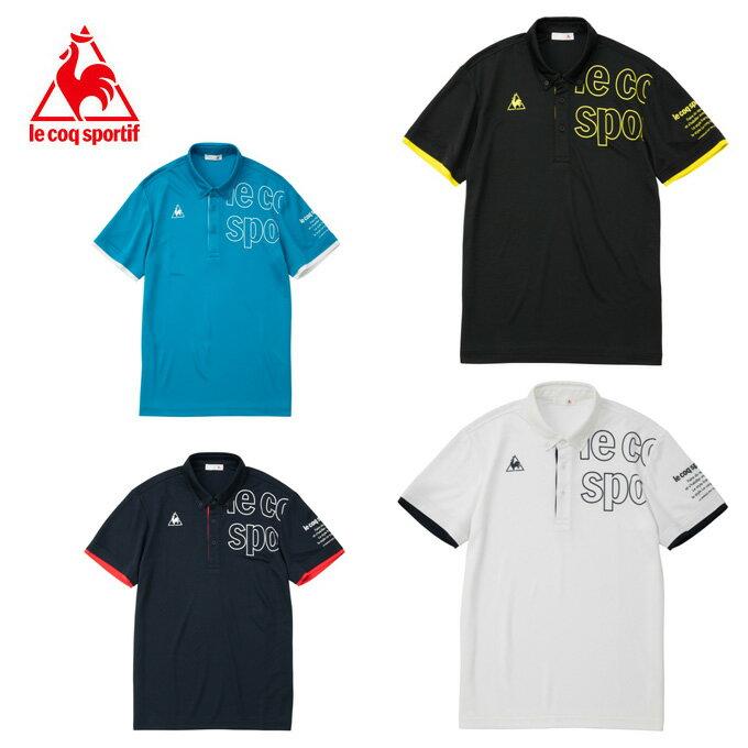 ルコック le coq sportif ポロシャツ 半袖 メンズ ボタンダウン機能ポロシャツ QMMNJA41