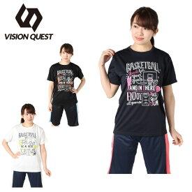 ビジョンクエスト VISION QUEST バスケットボールウェア 半袖シャツ レディース バスケプリント VQ570413I05
