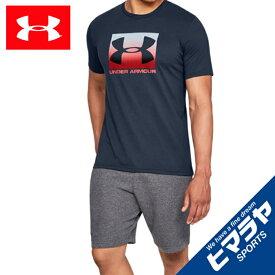 【ポイント10倍 9/24 1:59まで】 アンダーアーマー Tシャツ 半袖 メンズ UAボックススポーツスタイル ショートスリーブ ライフスタイル MEN 1329581 408 UNDER ARMOUR