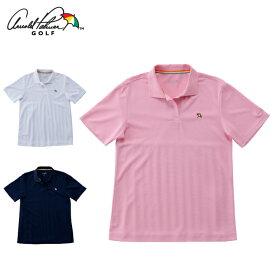 アーノルドパーマー arnold palmer ゴルフウェア ポロシャツ 半袖 レディース バックプリーツ半袖ポロシャツ AP220301I01