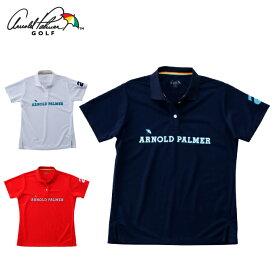 アーノルドパーマー arnold palmer ゴルフウェア ポロシャツ 半袖 レディース 胸プリント半袖シャツ AP220301I02