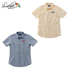 アーノルドパーマー arnold palmer ゴルフウェア 半袖シャツ レディース ストライプ半袖シャツ AP220301I03