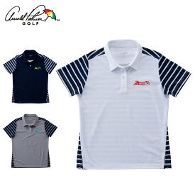 アーノルドパーマー arnold palmer ゴルフウェア ポロシャツ 半袖 レディース ボーダーコンビ半袖ポロシャツ AP220301I04