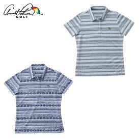 アーノルドパーマー arnold palmer ゴルフウェア 半袖シャツ レディース オルテガ柄半袖シャツ AP220301I06